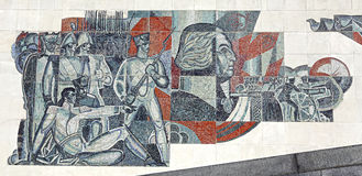 Mozaika przedstawia zwycięstwo Rosyjscy oddziały wojskowi zdjęcia stock