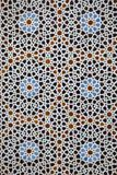 Mozaika przy Madrasa Bou Inania, fez, Maroko fotografia stock