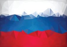 Mozaika rosjanina flaga Niski poli- styl Obrazy Stock