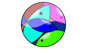 Mozaika Rybi logo obraz royalty free