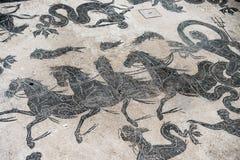 Mozaika szczegół na antykwarskiej rzymskiej podłoga Zdjęcie Stock