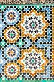 Mozaika szczegół Madrasa Marrakesh Fotografia Royalty Free