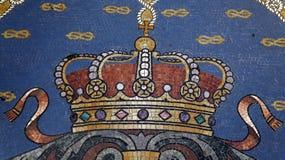 Mozaika szczeg?? na pod?ogowej Vittorio Emanuele II galerii milan W?ochy zdjęcie royalty free