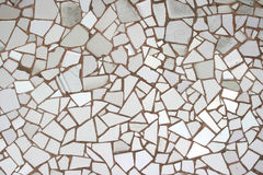 mozaika tafluje biel Zdjęcia Stock