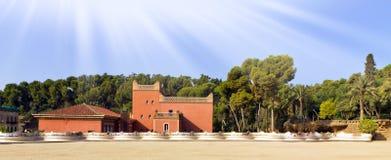 Mozaika węża ławka. Barcelona punkt zwrotny, Hiszpania. Zdjęcie Royalty Free