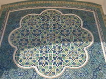 Mozaika w Archeological muzeum w Termiz Fotografia Royalty Free