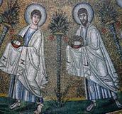 Mozaika w pałac normandczycy, Palermo, Sicily, Italy Zdjęcie Royalty Free