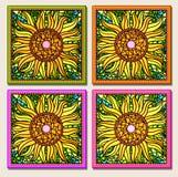 mozaika wielo- słonecznik Obrazy Stock