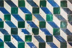 Mozaika wzór, geometryczna ściana tafluje dekorację Zdjęcia Royalty Free