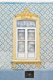 Mozaika wzór wokoło okno obrazy stock