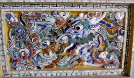 Mozaika z azjatykcim smokiem Obrazy Stock