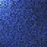 Mozaiki ściana w kobaltu błękicie Obraz Royalty Free