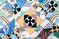 Mozaiki Antonio Gaudi obrazy royalty free