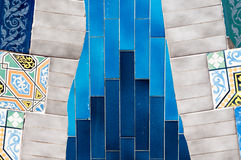 Mozaiki Antonio Gaudi fotografia royalty free