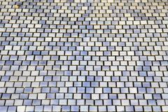 Mozaiki błękita płytki obraz stock