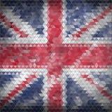 Mozaiki Brytyjski flaga tło Fotografia Royalty Free