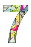 Mozaiki cyfra 7 Obraz Stock