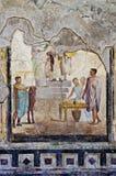 Mozaiki i fresku dom w Pompeii Obrazy Stock