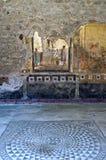 Mozaiki i fresku dom w Pompeii Obraz Royalty Free