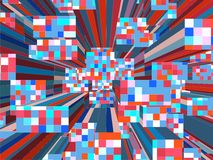 Mozaiki Kolorowy Miastowy miasto drapacze chmur Wektorowi Zdjęcie Stock