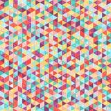 Mozaiki kolorowy tło geometryczni kształty Fotografia Royalty Free