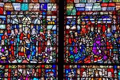 Mozaiki okno w trójca kościół fotografia royalty free