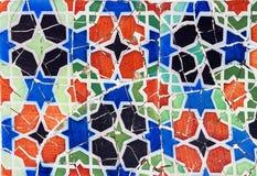 Mozaiki płytki wzoru Abstrakcjonistyczny bezszwowy ornamentacyjny tło Obraz Stock