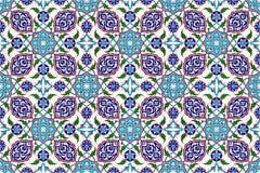 Mozaiki płytki wzór, islamski motyw Obrazy Royalty Free