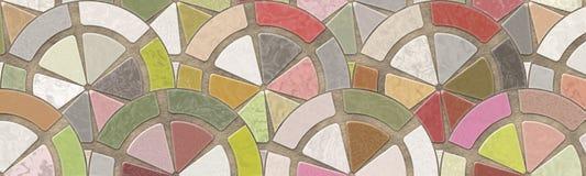 mozaiki podłoga royalty ilustracja