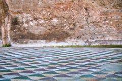 Mozaiki podłoga Caracalla skąpania Obraz Stock