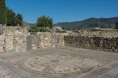Mozaiki podłoga, Volubilis ruiny ekskawacje rzymski miasto obrazy royalty free