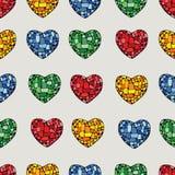 Mozaiki serce Zdjęcia Stock