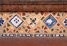 Mozaiki tło mozaika kolorowa Tekstury mozaika Rozpada się o Fotografia Stock