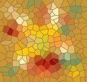 Mozaiki tło w jesień kolorach Obraz Stock