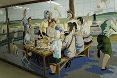 Mozaiki w przejściu podziemnym w Don mieście, Rosja Obraz Royalty Free