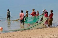 Mozambicaanse vissers Stock Fotografie