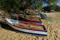 Mozambicaanse Vissersboten Stock Afbeeldingen