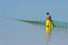 рыболов mozambican Мозамбик Африки южный Стоковая Фотография RF