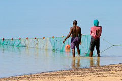 Mozambican fishermen Royalty Free Stock Photography
