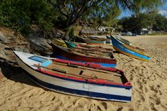 Mozambican Fishing Boats Stock Images