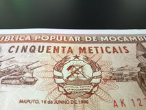 Mozambican Metical Stockbild