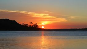 Mozambican Sunset Royalty Free Stock Image