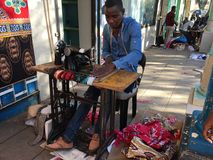 A mozambican tailor Royalty Free Stock Images