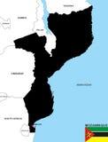 Mozambik mapa Zdjęcia Stock