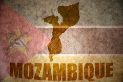 Mozambik rocznika mapa fotografia stock
