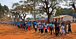 Mozambik zwycięstwa dzień, Metarica, Niassa, Sept 07 Zdjęcie Stock
