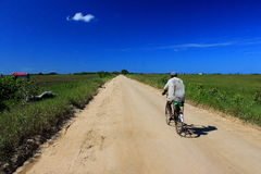 Mozambique  Africa. Bicycles are the main form of rural transport in Mozambique Africa Stock Photo