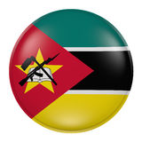 Mozambique button on white background Stock Images