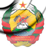 Mozambique Coat of Arms. 3d Rendered Mozambique Coat of Arms Royalty Free Stock Image