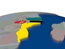 Mozambique con la bandera Foto de archivo libre de regalías